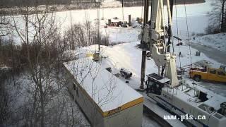 Terwillegar Park Footbridge Construction Time Lapse