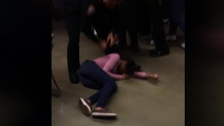 Outrage over video showing cop body-slamming teen girl