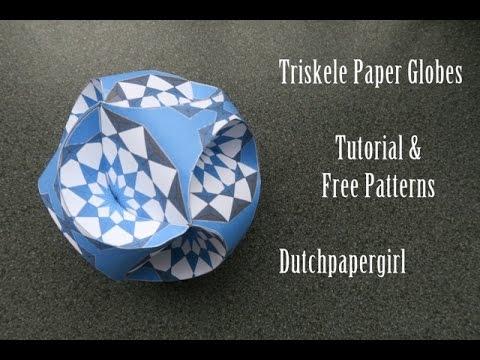 Triskele Paper Globes Tutorial Free Patterns Dutchpaper