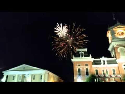 Covington Square Fireworks Celebration 2015
