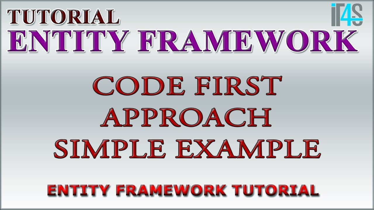 Entity Framework Tutorial - Example of code first approach