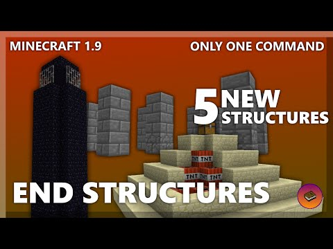 Minecraft | END STRUCTURES in only one command! More generated structures!