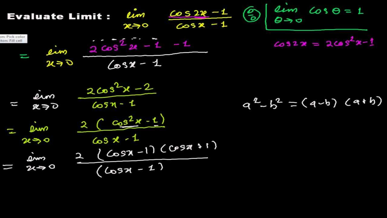 How to Find Limits of Trigonometric Function - Solved Out Example 5