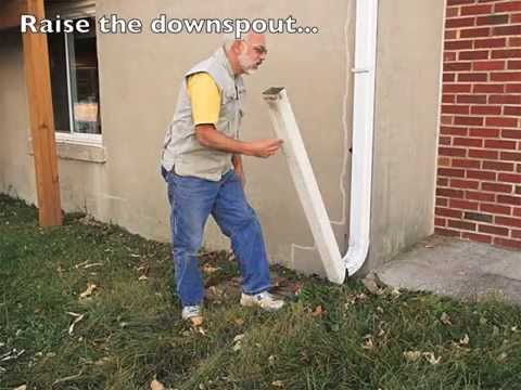 Hinged Downspout Extension Slideshow Youtube
