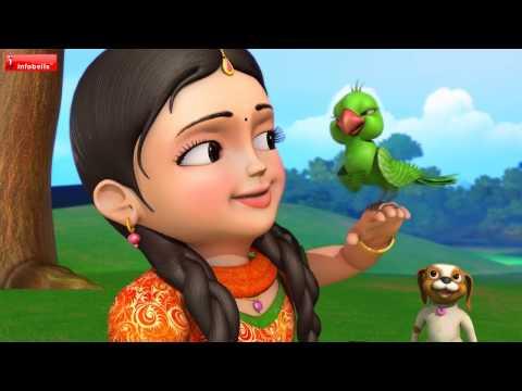 பச்சைக்  கிளி   Tamil Rhymes for Children   Infobells
