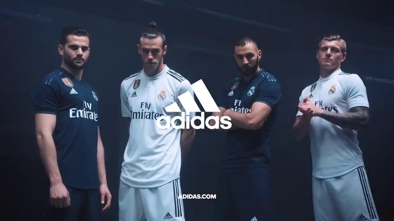 calculadora Alacena Discriminación  Adidas presenta Real Madrid CF 2018 19 - YouTube