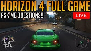 Forza Horizon 4: Full Game Playthrough   Ask Me Questions!!