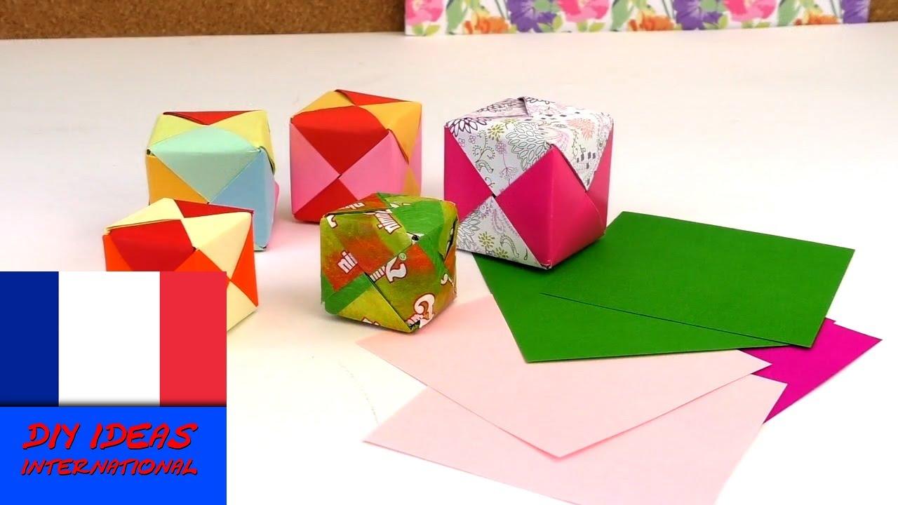 tutoriel origami facile cubes origami diy tutorial. Black Bedroom Furniture Sets. Home Design Ideas