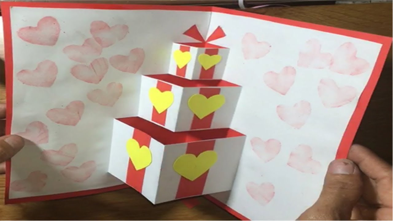 Cách làm thiệp sinh nhật, thiệp sinh nhật tặng…. | handmade birthday card | Utr tv