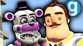 HELLO NEIGHBOR AND NEW FUNTIME FREDDY PILL PACK IN GMOD-Five Nights at Freddy's Garry's Mod Sandbox