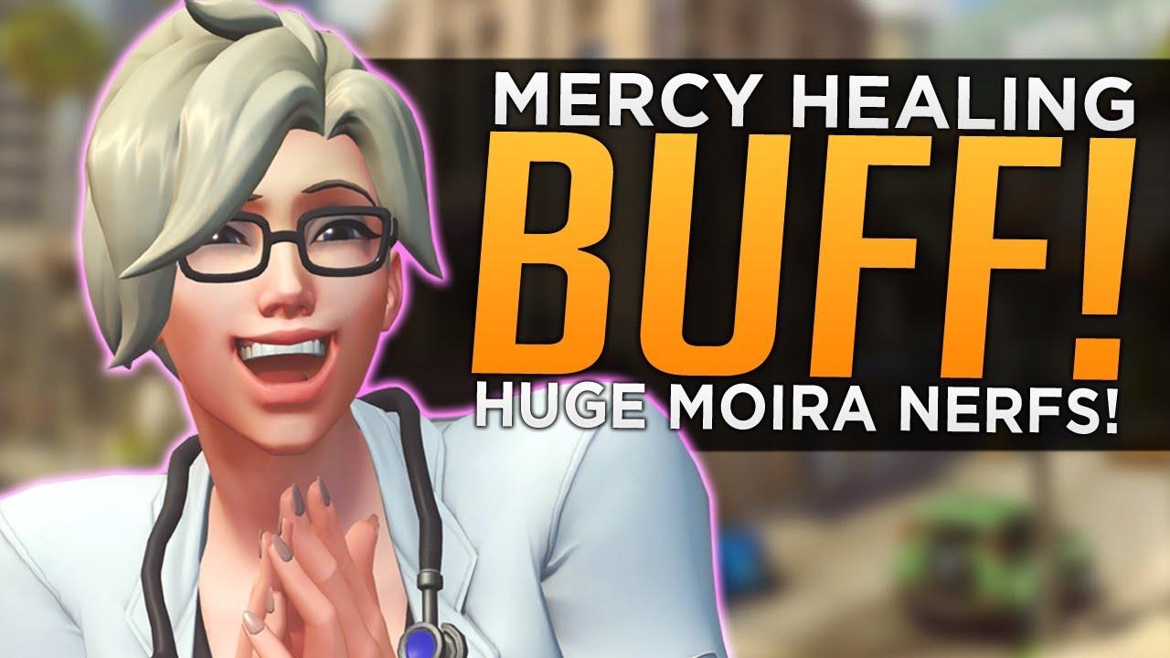 Overwatch: Mercy Healing BUFF! - HUGE Moira NERFS! thumbnail