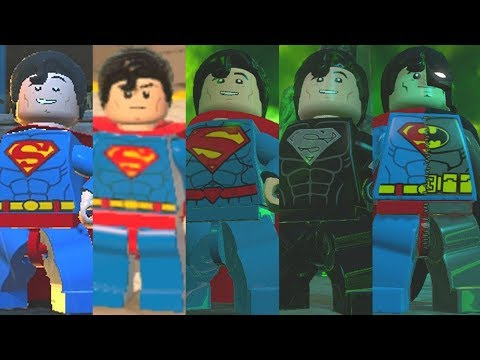 Superman Evolution in Lego Videogames