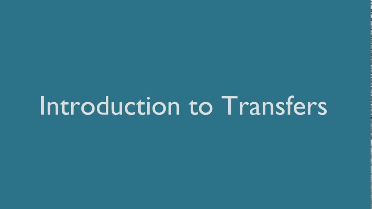 Online Banking: Transfers Tutorial - YouTube