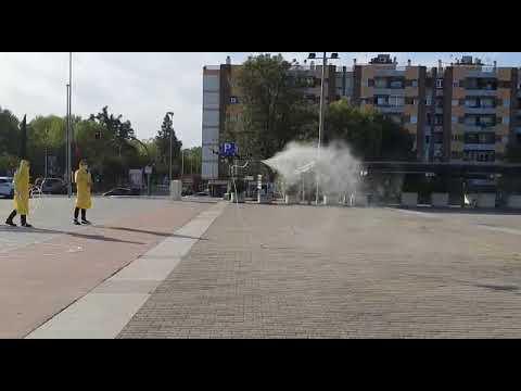 Limpieza de la estación de trenes de Córdoba mediante el uso de drones