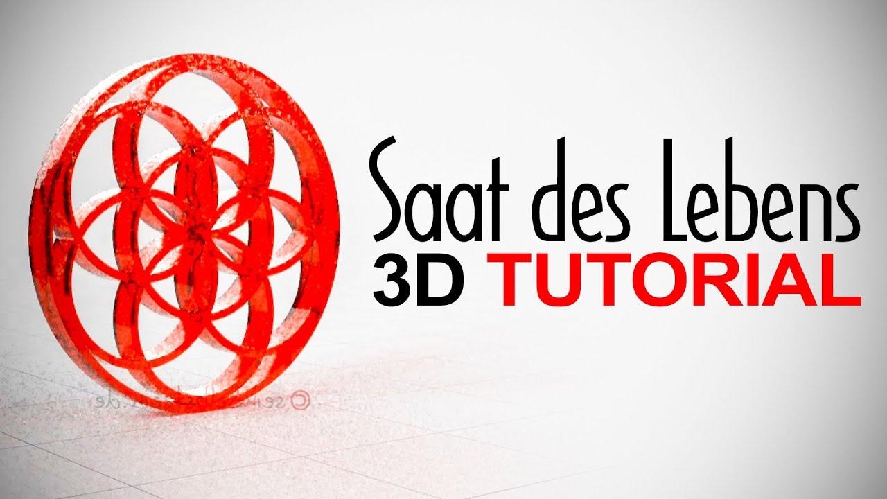 3D Tutorial - Saat des Lebens - 3D-Modell Schritt für Schritt erstellen - Anleitung in deutsch
