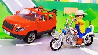 Мультфильмы про машинки. Большая машина и мотоцикл – Приключения на ферме. Мультики для детей
