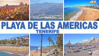 PLAYA DE LAS AMERICAS - TENERIFE , CANARY ISLANDS 2018 4K