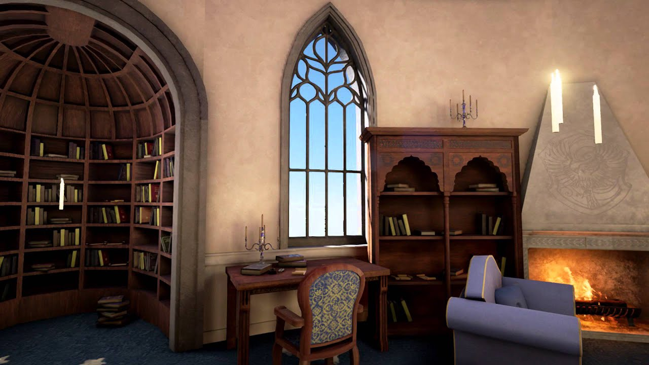 Final Year Project - Ravenclaw common room - YouTube