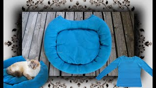 DIY 😻 Pullover Bett für Katzen & Hunde | Pet bed from a sweater
