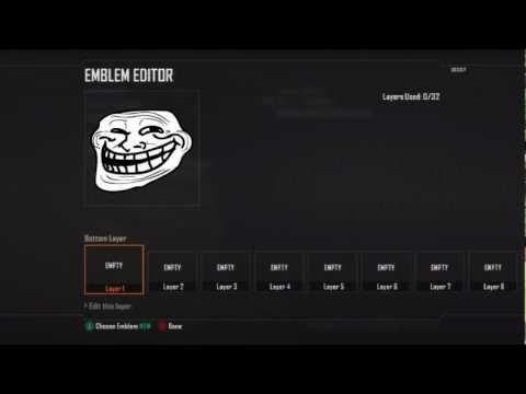 Call of Duty Black Ops 2 Troll Face Emblem Tutorial