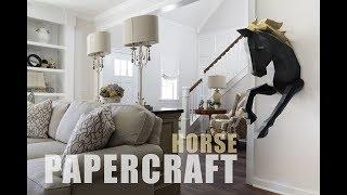 DIY PAPERCRAFT Horse Mounting tutorial