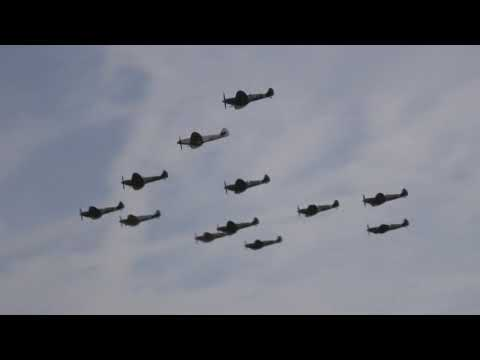 Spitfires Everywhere - IWM Duxford Battle of Britain Airshow 2017 (Day 2)