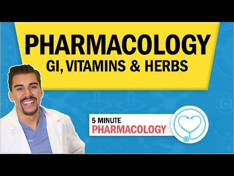 Pharmacology - GI, Vitamin, Herbs & Nutrition Drugs