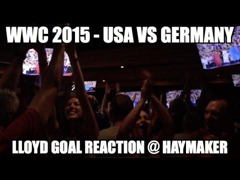 WWC 2015 - USA vs Germany - Carli Lloyd 1-0 (Haymaker Austin Texas crowd reaction).