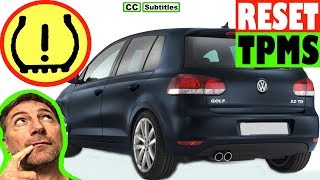 How to reset Tire Pressure Light on VW Golf - How to reset Tyre Pressure Light on VW Golf