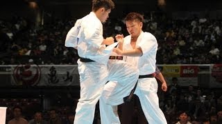 THE 45TH ALL JAPAN OPEN KARATE TOURNAMENT men 3rd round Yutaro Kawa...