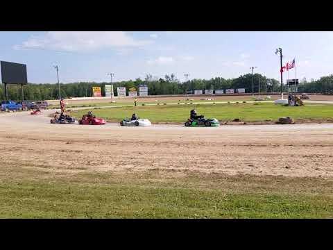 Ransomville Speedway 8/20/17 Luca feature #2 novice class