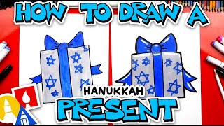 How To Draw A Hanukkah Present