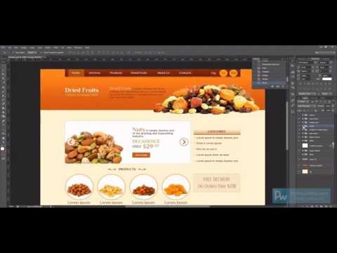 Dried Fruits Website Design process – Adobe Photoshop & Illustrator Timelaps