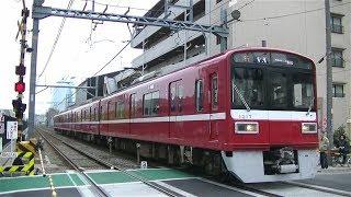 京急大師線1500形1517F普通京急川崎行き 港町駅入線