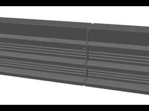 Склейка П-образной гидрошпонки клеем Innoelast
