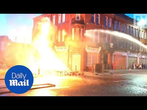 Firefighters Tackle Dangerous Eleventh Night Bonfire In Belfast - Daily Mail