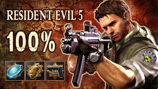 RESIDENT EVIL 5 - 100% Speed RuN (All BSAA Emblems, Treasures, Weapons)