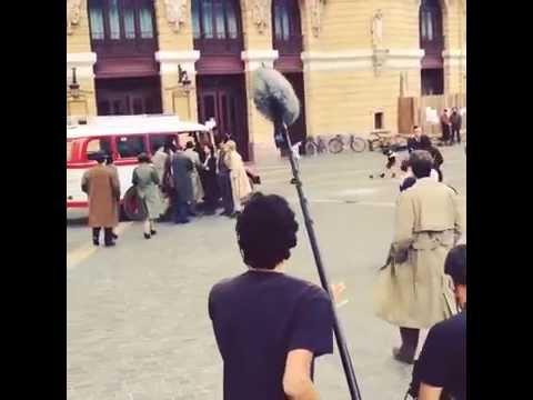 "James D´Arcy  filming  ""Gernika"" in Bilbao, 27.05.2015"