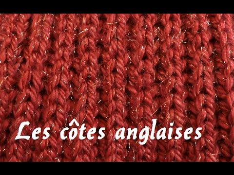 tuto apprendre tricoter les c tes anglaises tuto knit youtube. Black Bedroom Furniture Sets. Home Design Ideas