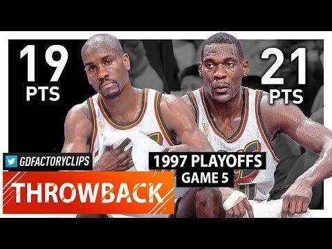 Throwback: Gary Payton & Shawn Kemp Game 5 Highlights vs Suns (1997 Playoffs) - TOO GOOD!