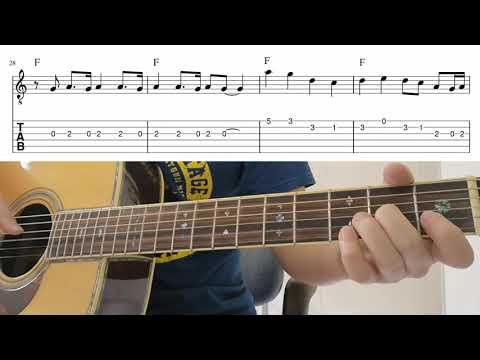 (Beginner) Counting Stars - Easy Melody Guitar Playthrough Tutorial Lesson With Tabs