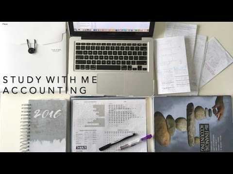 STUDY WITH ME : Accounting - School Vlog #6 Distance Learning, How I make my study guide | Laurie Lo