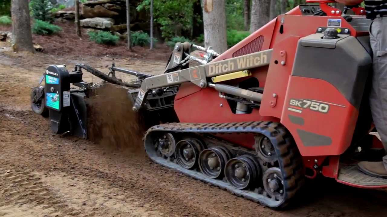 The Ditch Witch 174 Sk750 And Sk755 Youtube