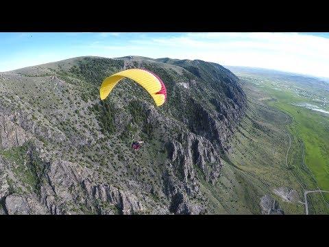 Full 1H15M Paragliding Flight at Randolph, UT - 4K UHD
