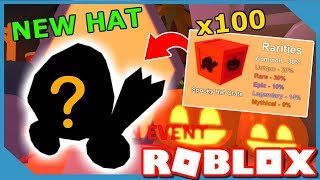 I BOUGHT 100 SPOOKY HAT CRATES AND GOT THIS... ROBLOX MINING SIMULATOR