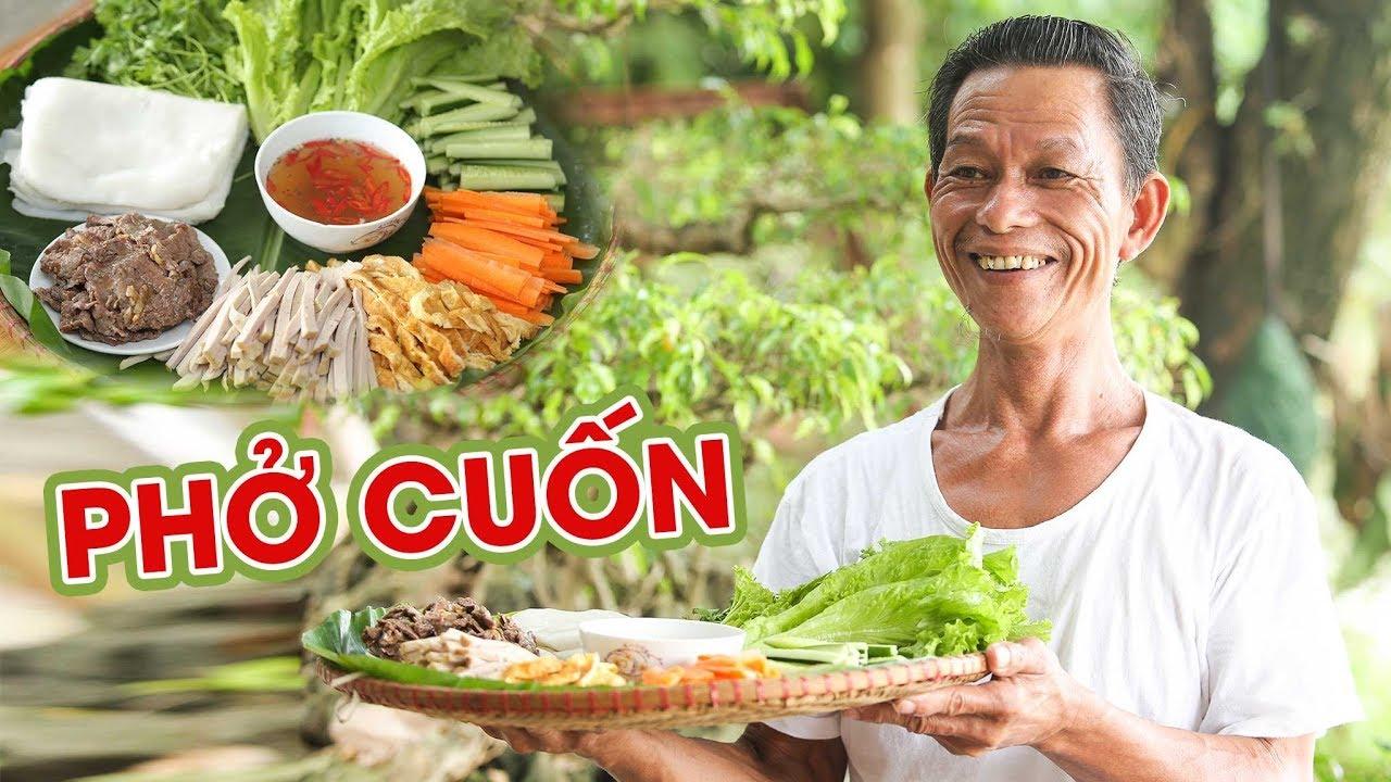 Ông Thọ Làm Phở Cuốn Thịt Bò Thơm Ngon Cho Ngày Nắng Nóng   Beef Rolled Pho