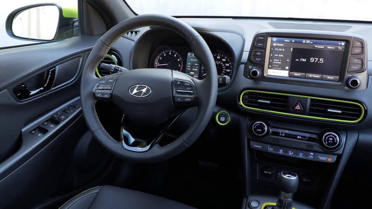 2018 hyundai kona interior design youtube for Interieur hyundai kona