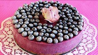 HEIDELBEER-EISTORTE | Blueberry Ice Cream Cake