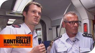 Pöbelnder Mitfahrer im Zug: Können sie ihn schnappen? | Achtung Kontrolle | kabel eins