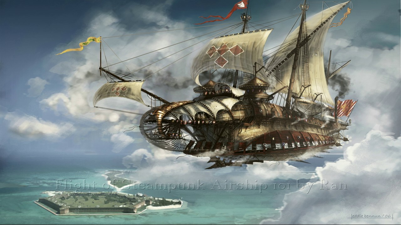 flight of steampunk airship 101 songs of sentimental